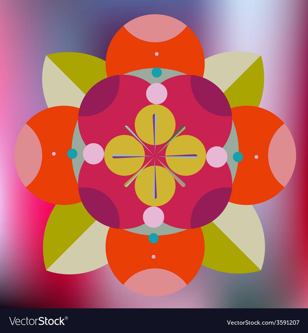 Floral decorative mandala vector