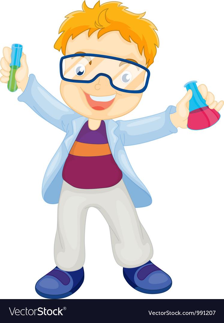 Kid scientist vector