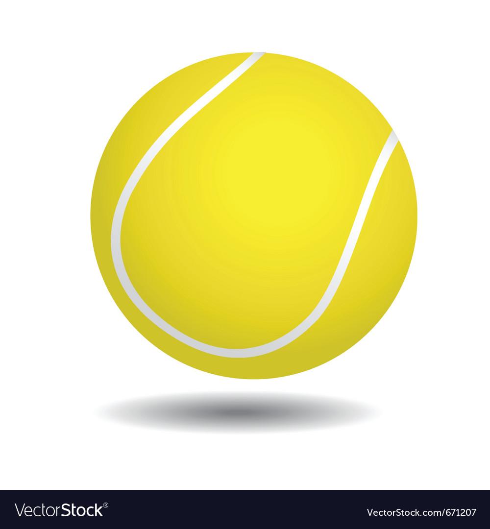Yellow tennis ball vector