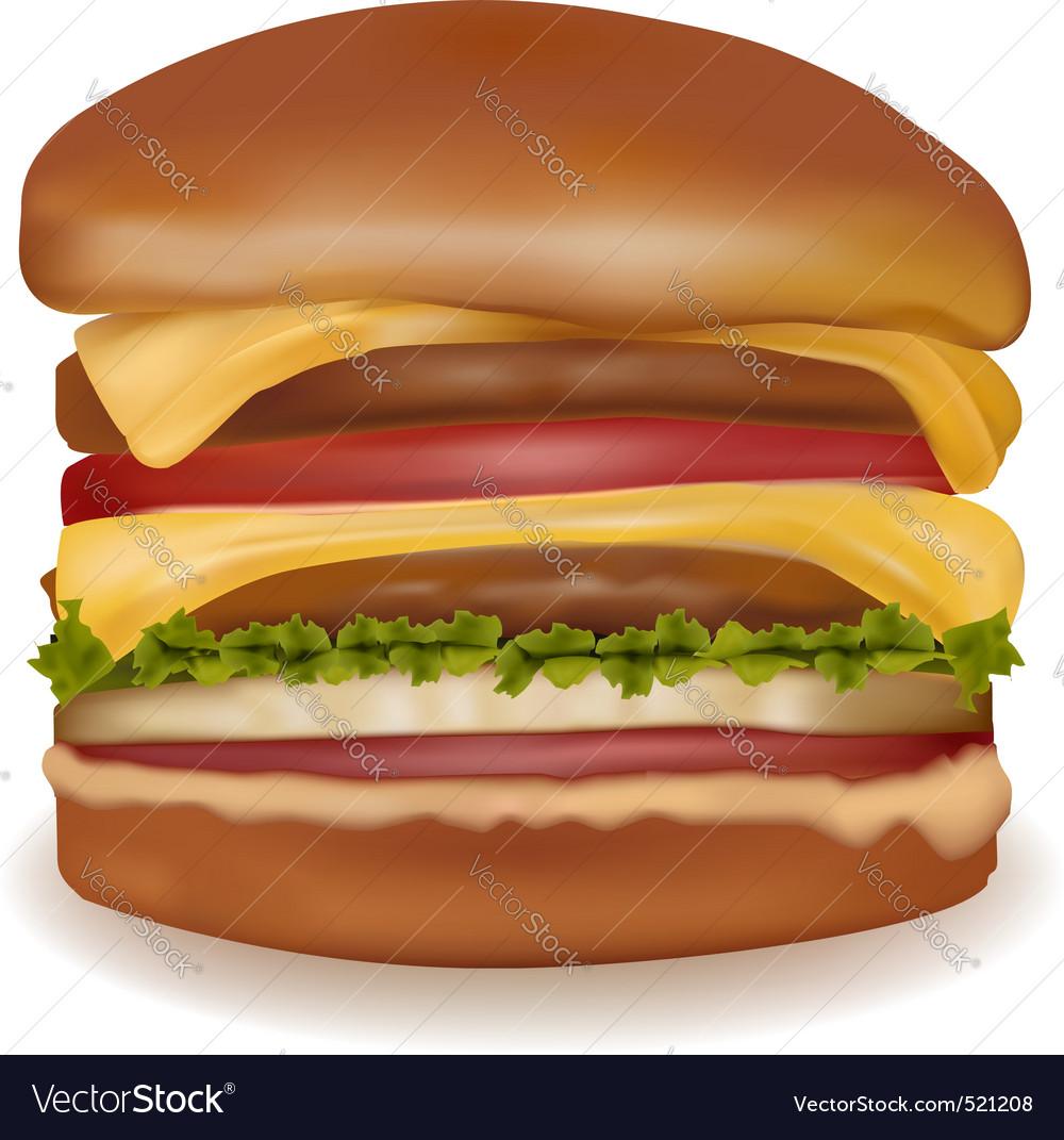 Big cheeseburger vector