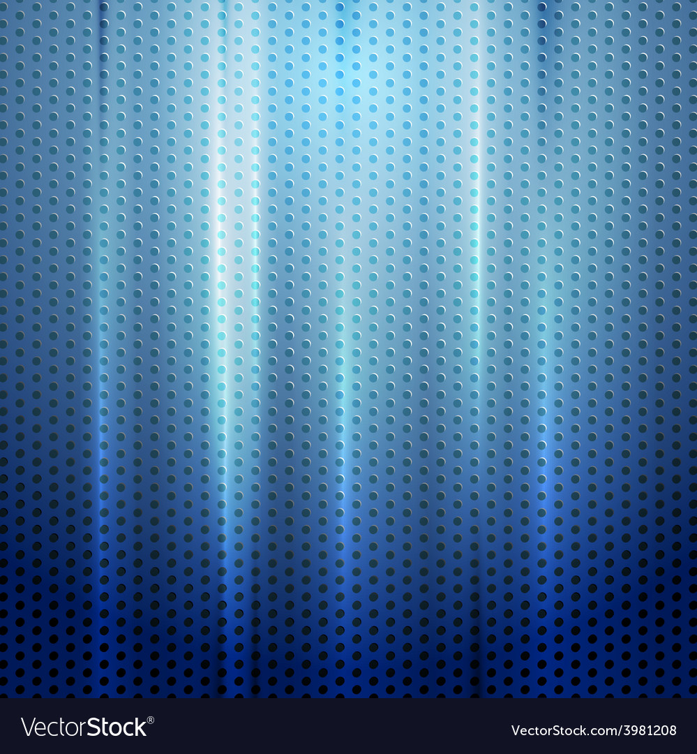 Bright blue abstract perforated texture vector