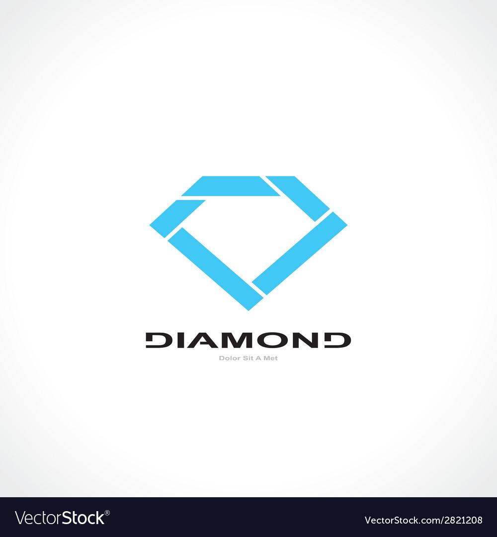 Symbol of diamond vector