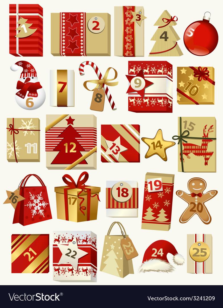 Advent calendar vector