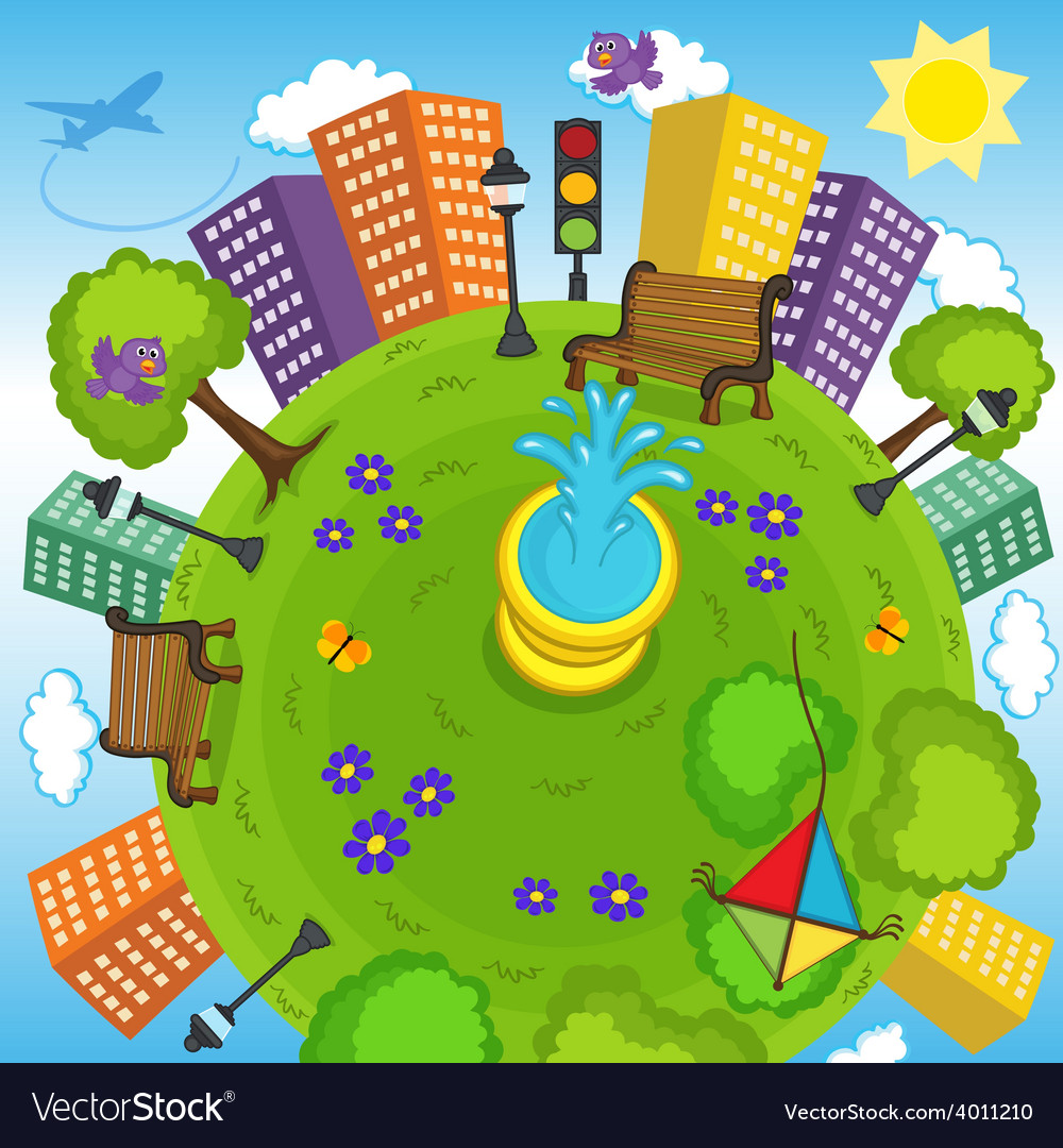 Earth and environment vector