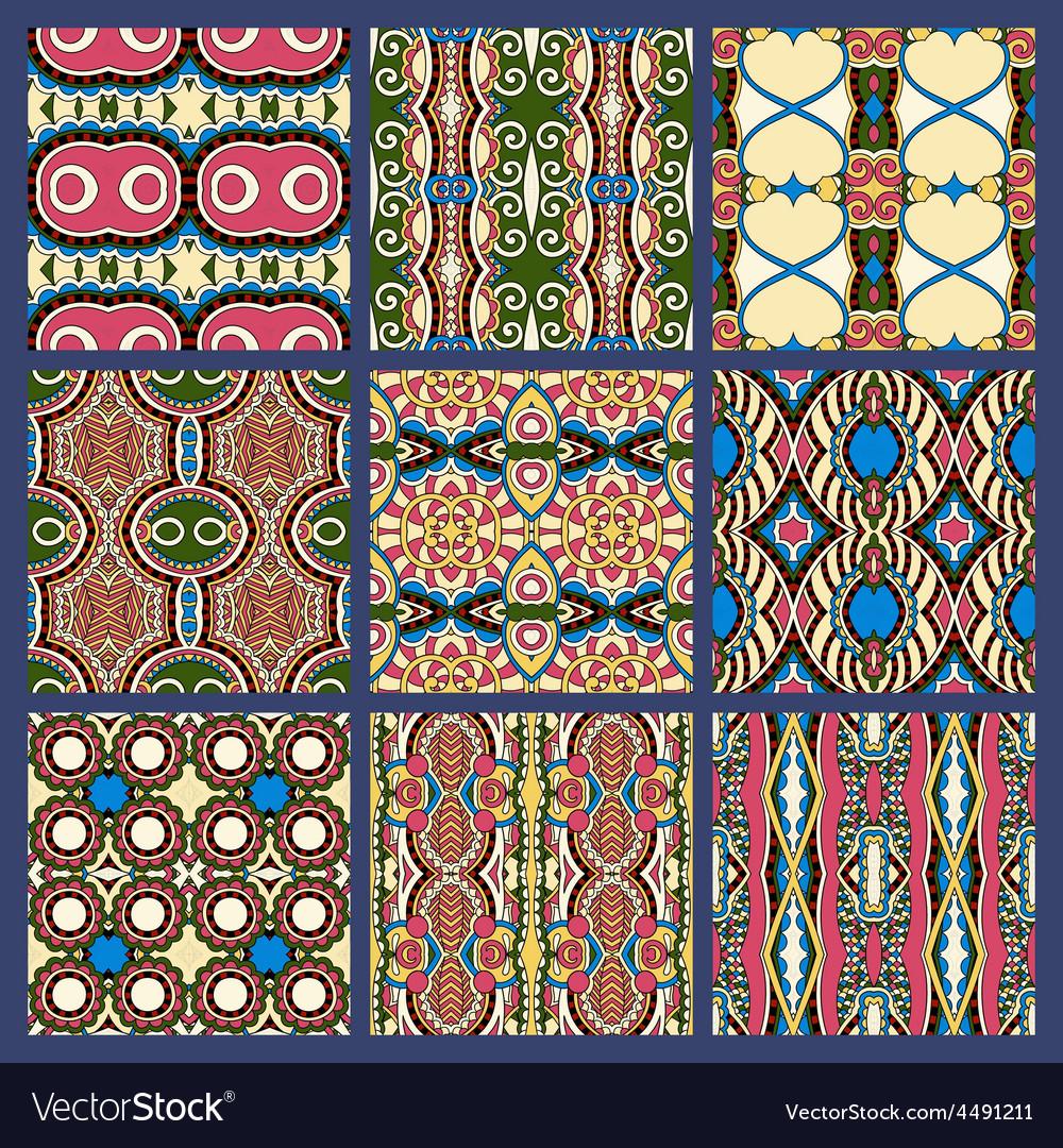 Seamless dirty dark blue vintage geometric pattern vector