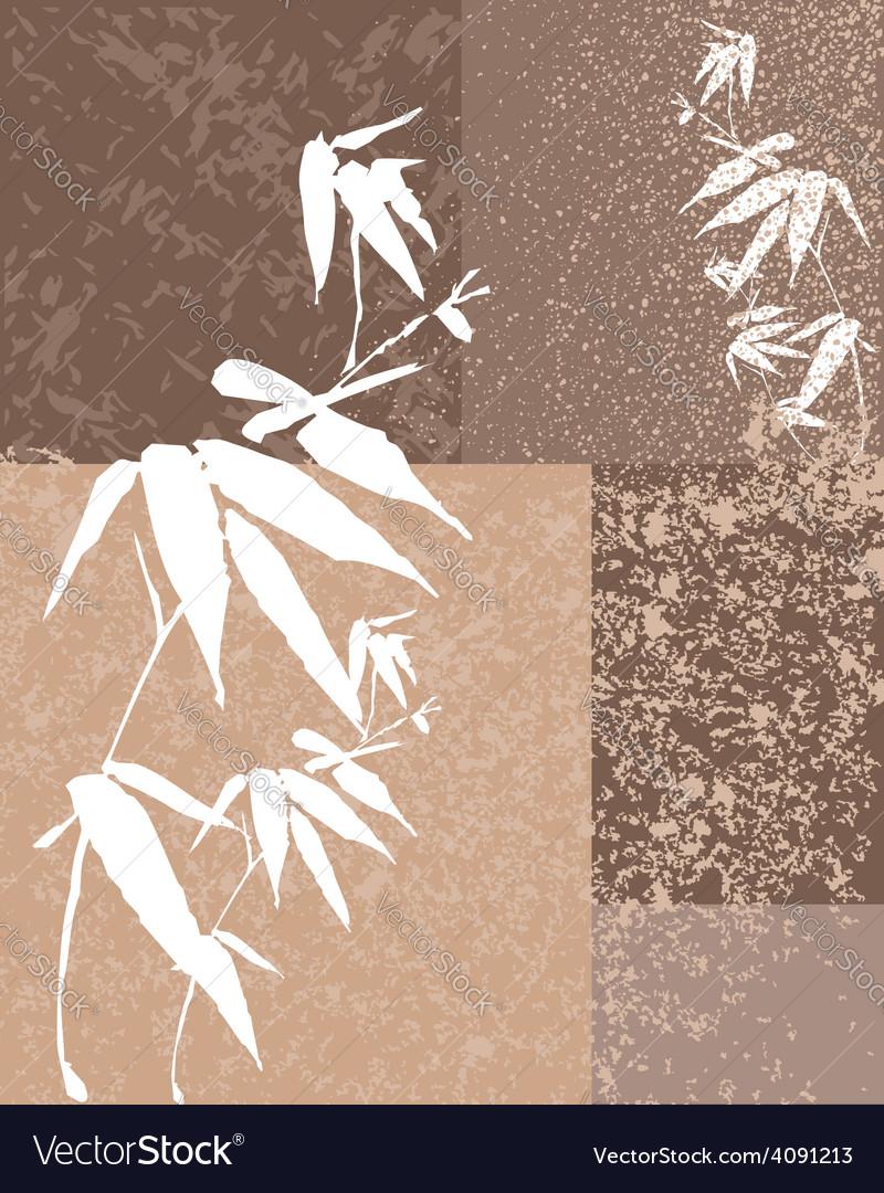 Zen bamboo vintage background vector