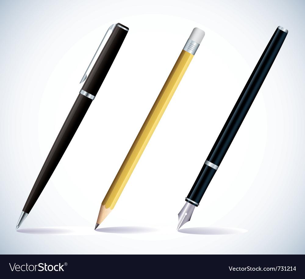 Pencil and pens vector