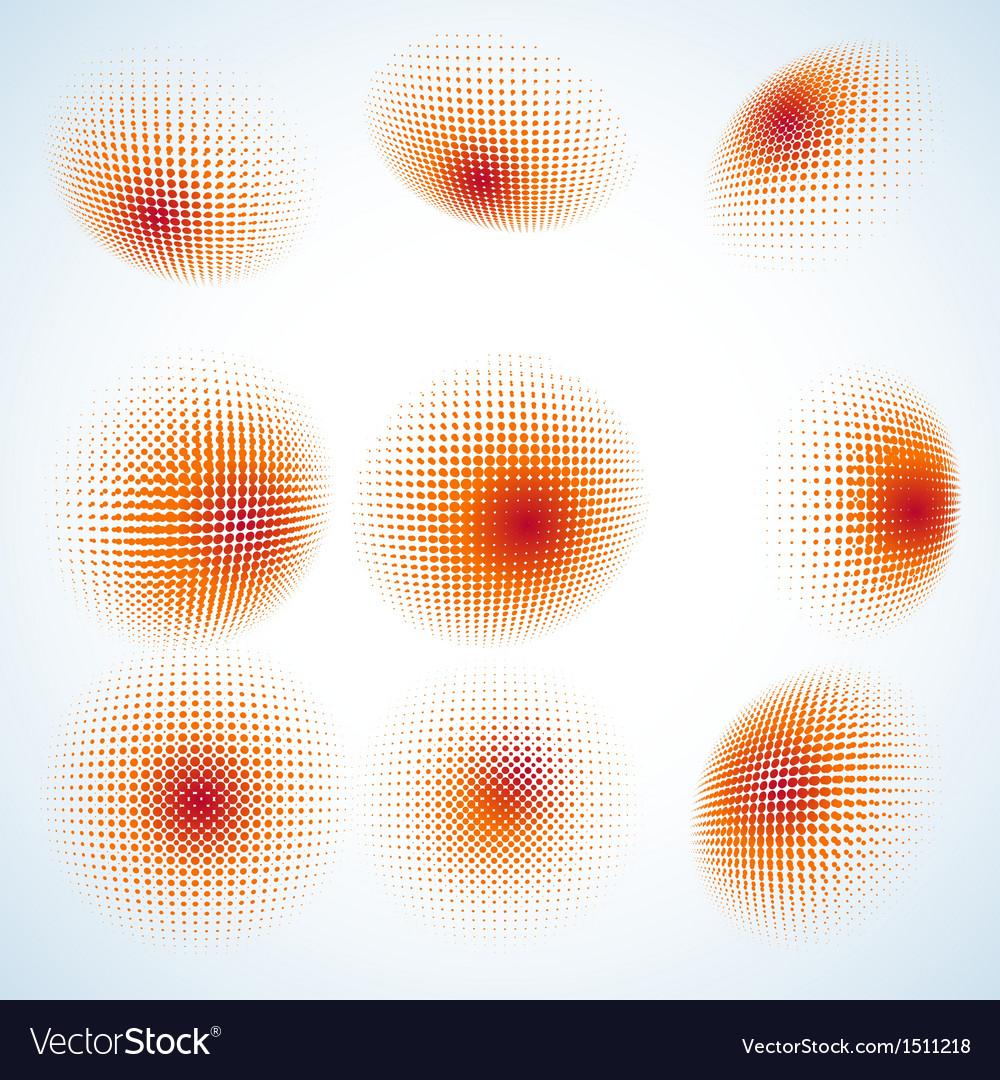 Abstract halftone circle design eps 10 vector