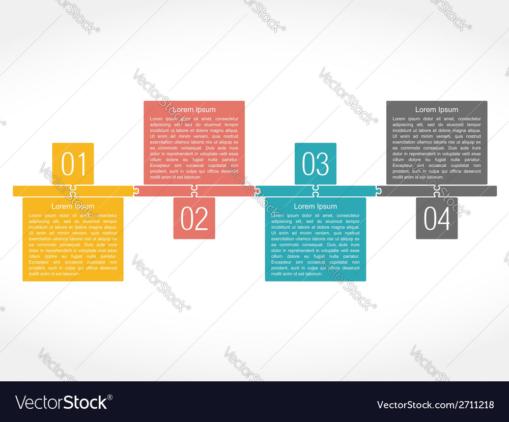 Puzzle design template vector