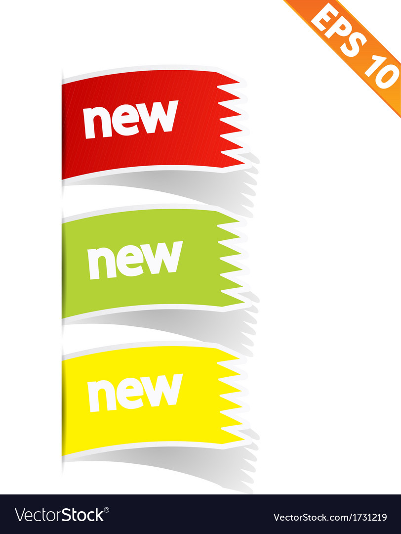 Sign sticker tag - - eps10 vector