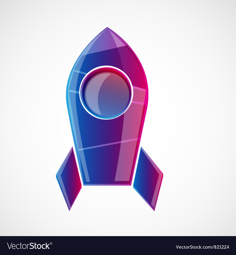 Rocket design concept vector