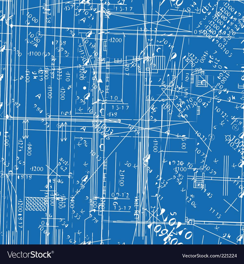 Simulating engineering blueprint vector