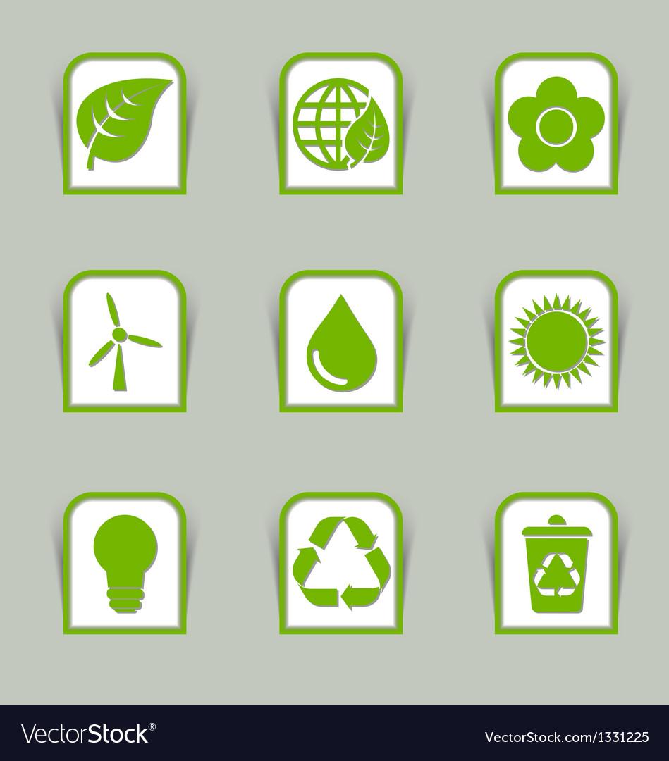 Ecological icon sticks vector