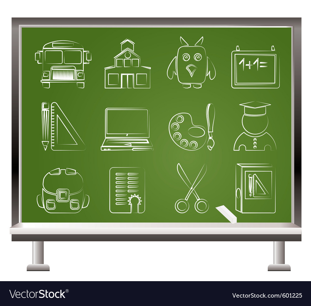 School and education objects vector