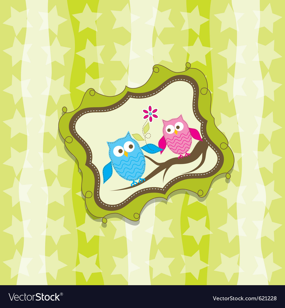 Greeting card template vector
