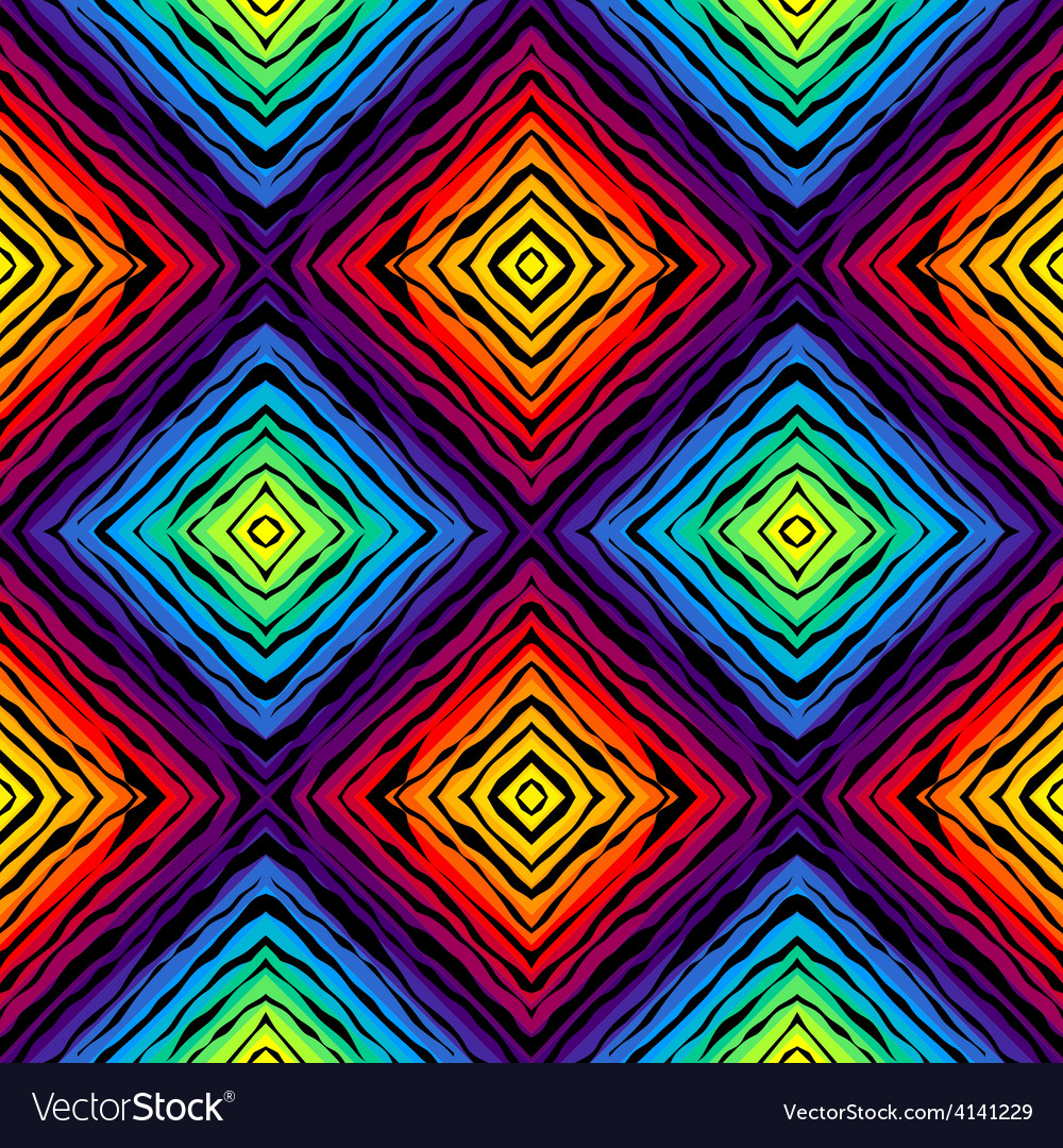 Abstract exotic pattern on rainbow colorful vector