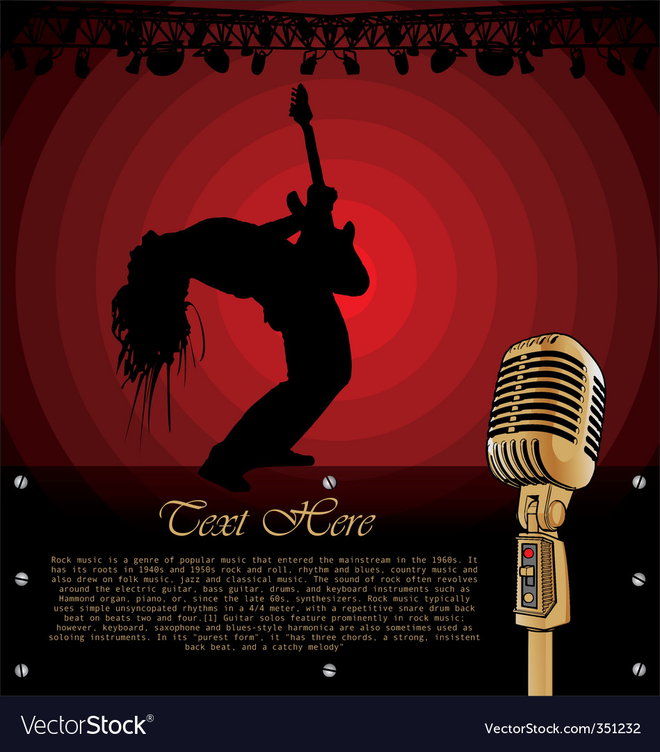 Rock musician on stage vector