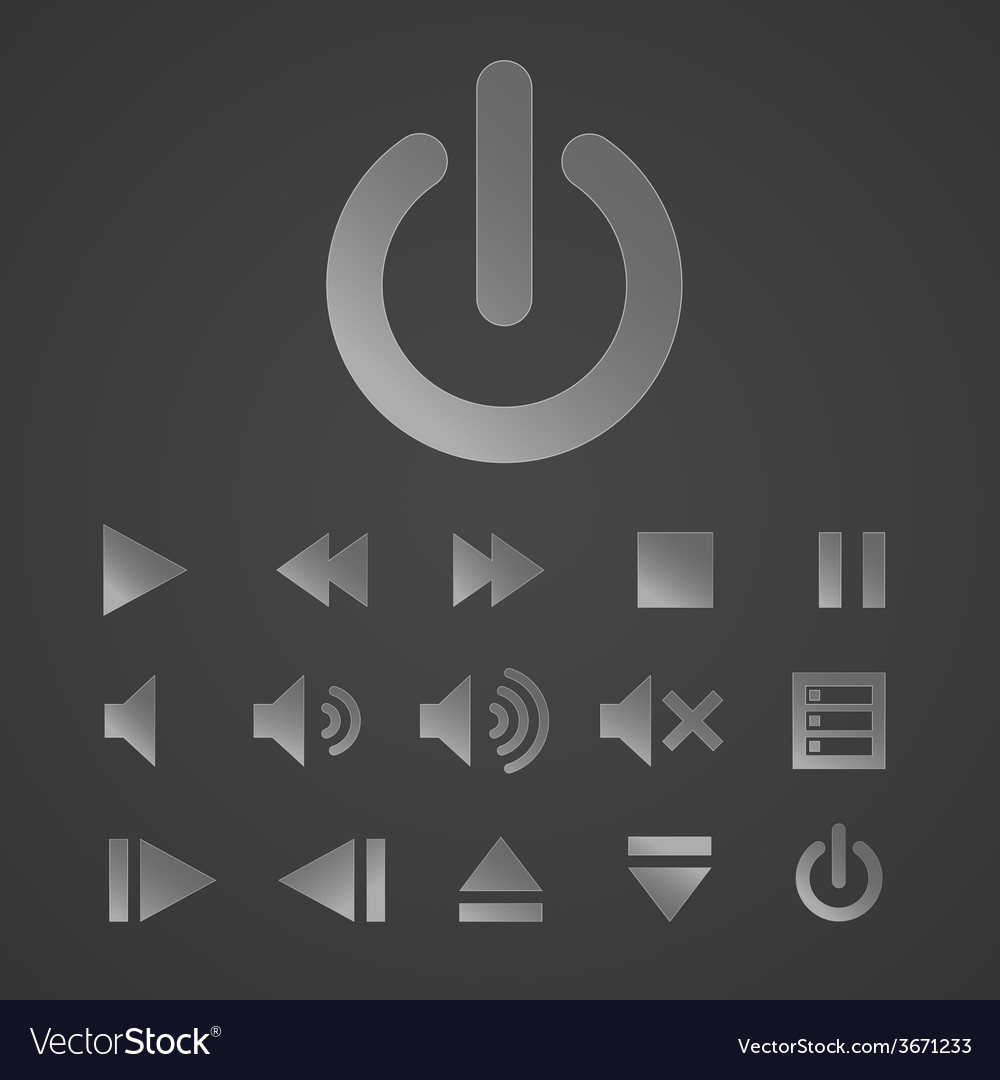 Set of icons for music media player vector