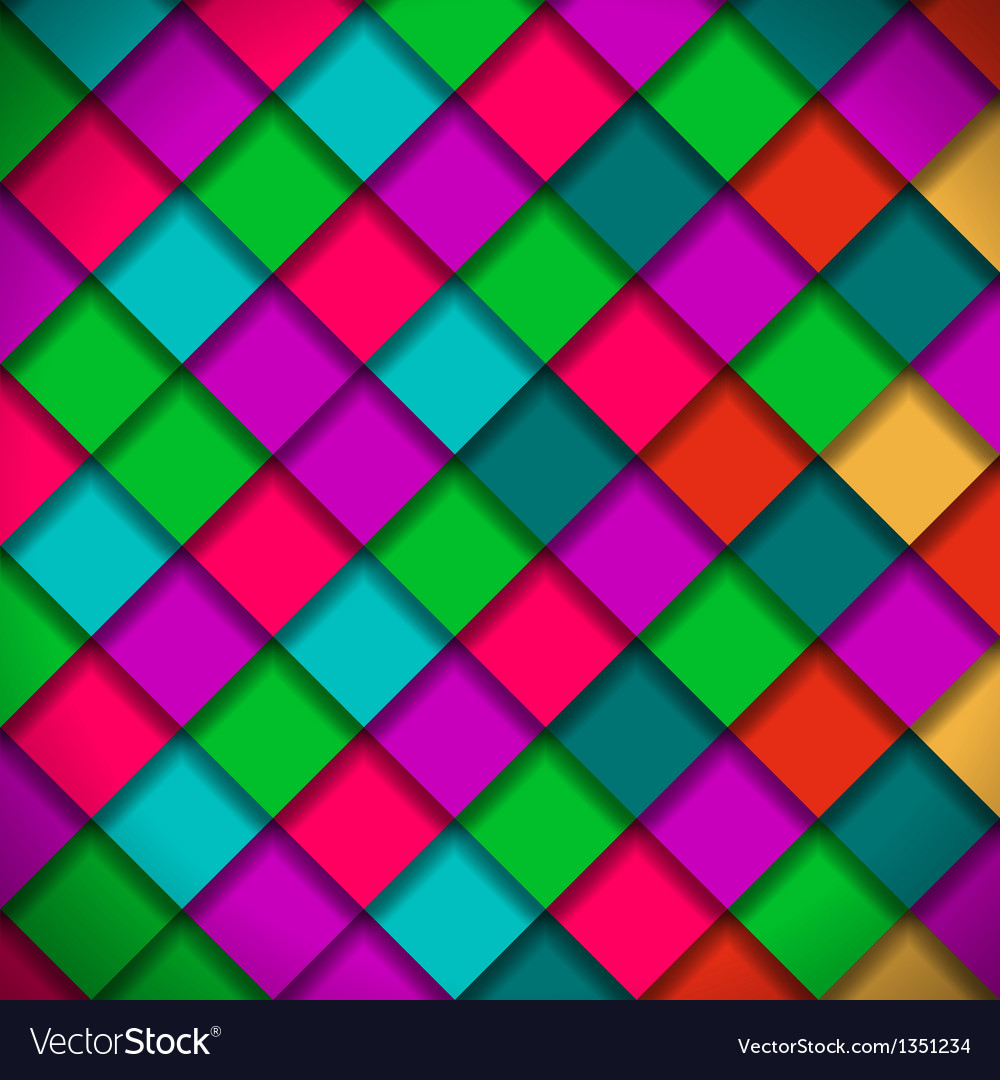 Bright colors mosaic pattern vector