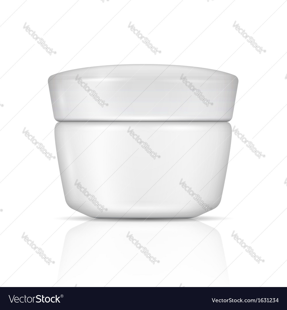 White body cream can with lid vector