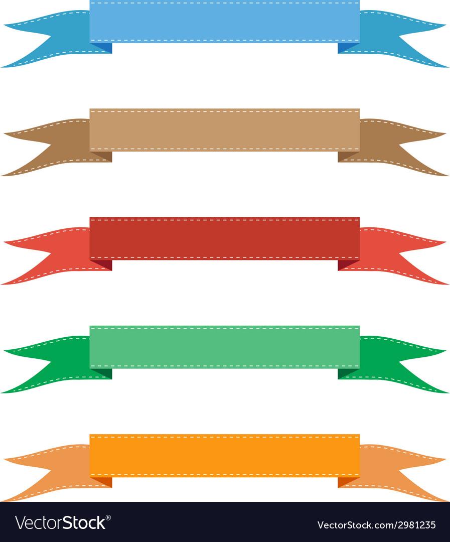 Color ribbon vector