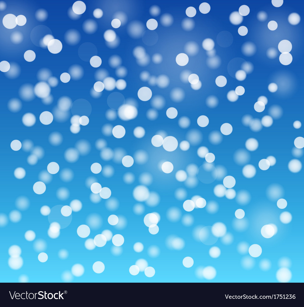 Snowflakes bokeh blue background vector