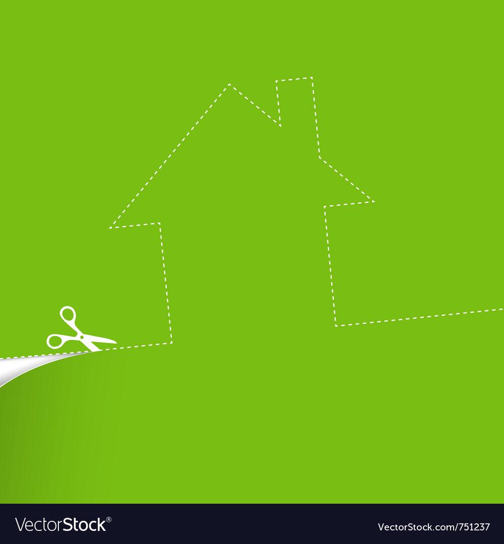 Ecological housing concept vector