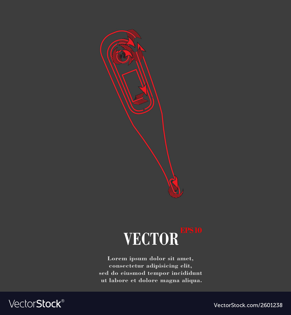 Medical thermometer flat modern web button and vector