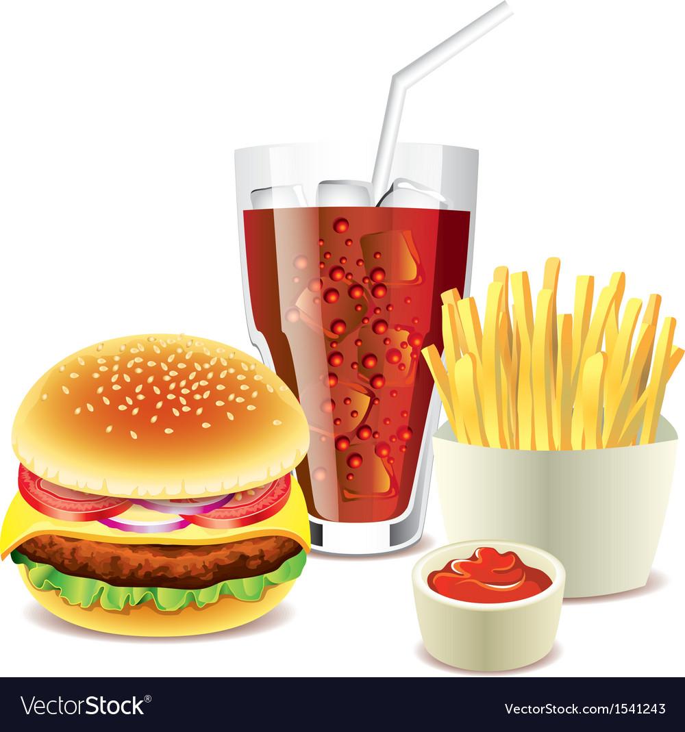 Cola hamburger fri vector