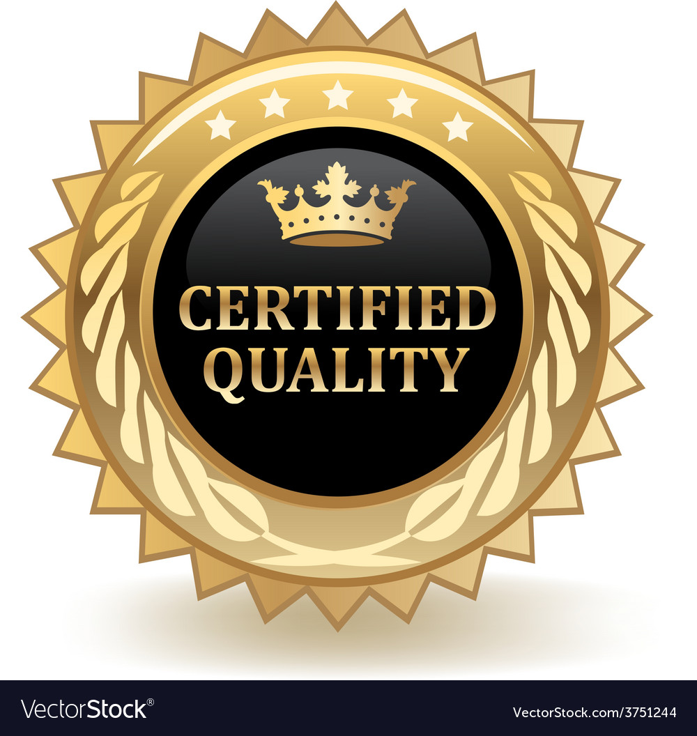 Certified quality badge vector