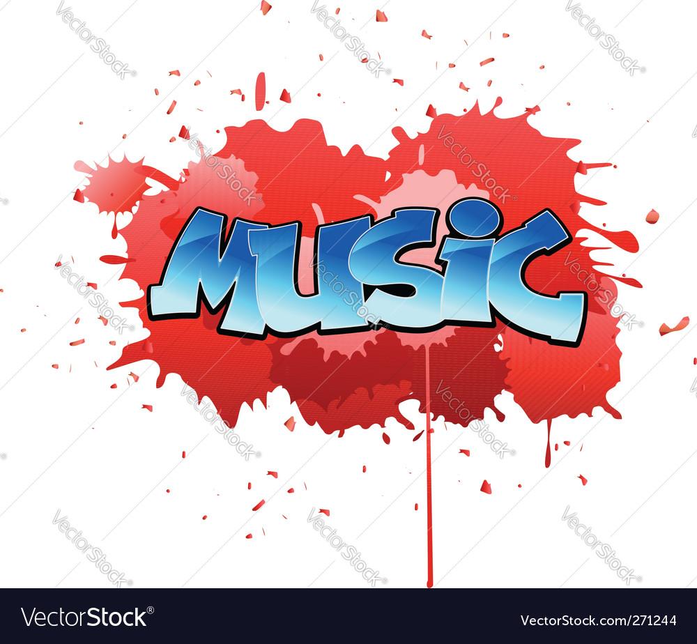 Graffiti music background vector