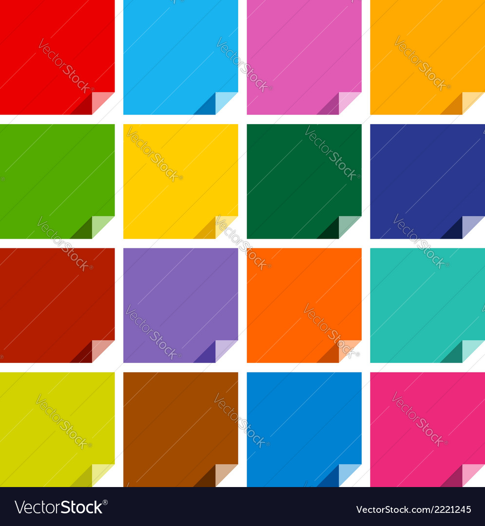 16 colored blank squares vector