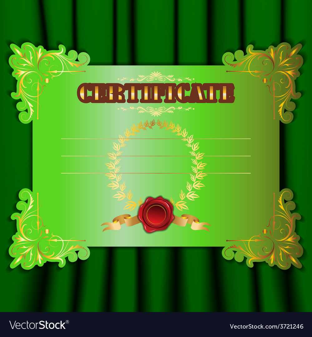 Certificate with a textile background vector
