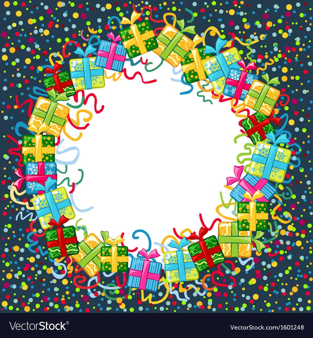 Christmas celebration border vector