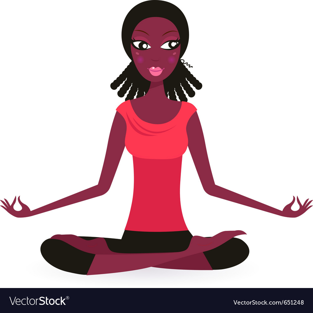 Yoga lotus pose vector