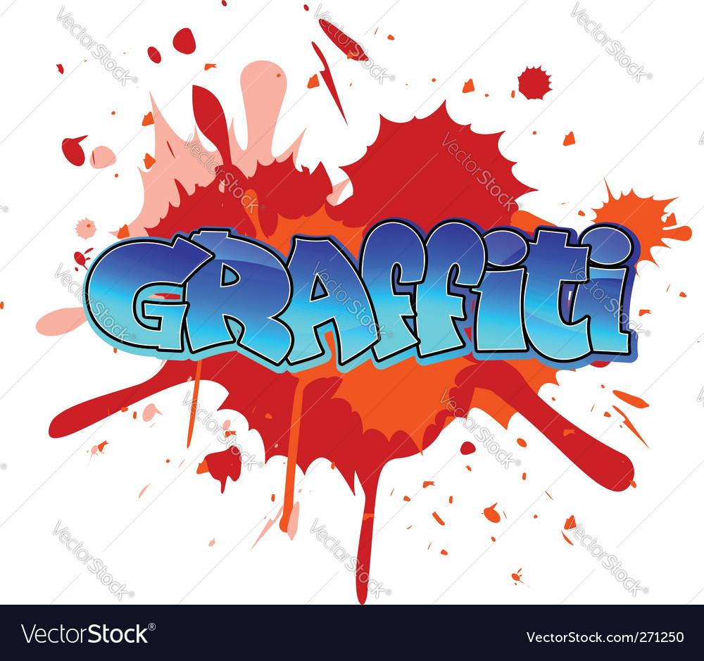 Graffiti background vector