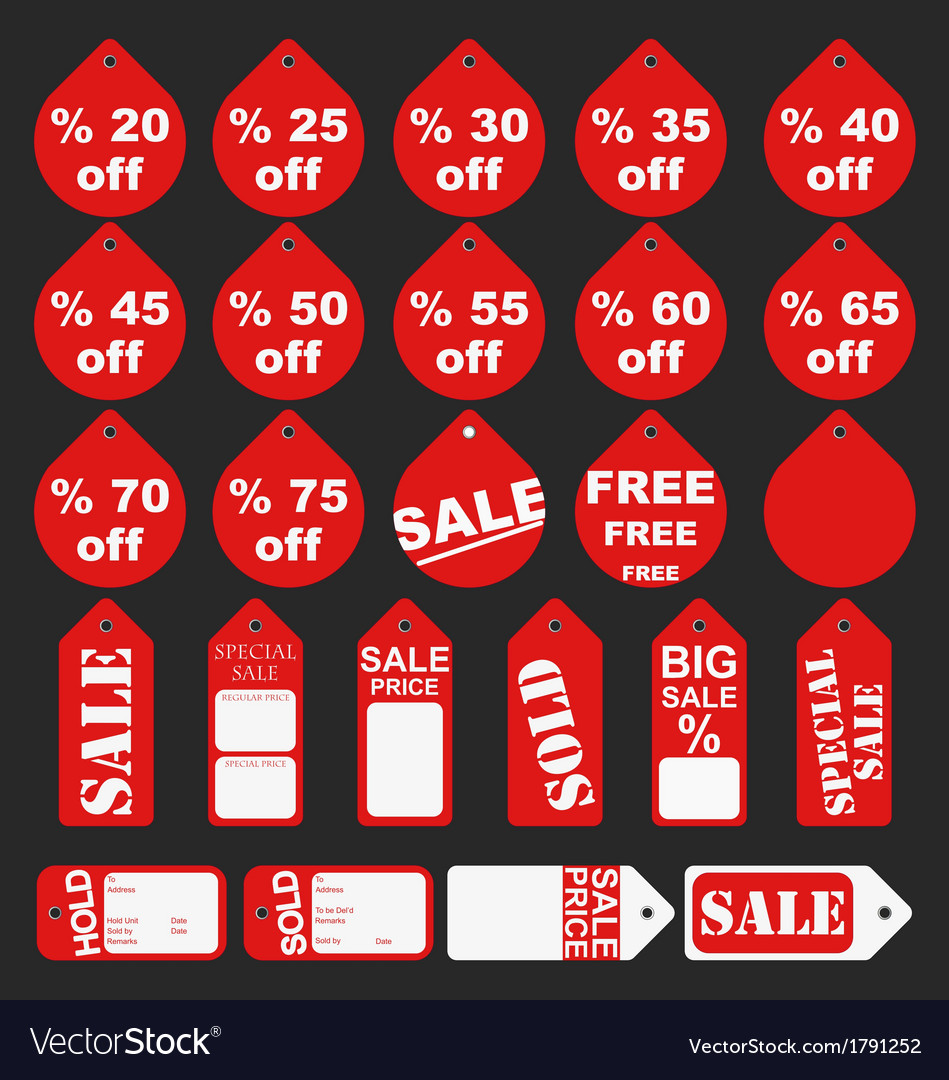 Sale tags and price labels collection vector
