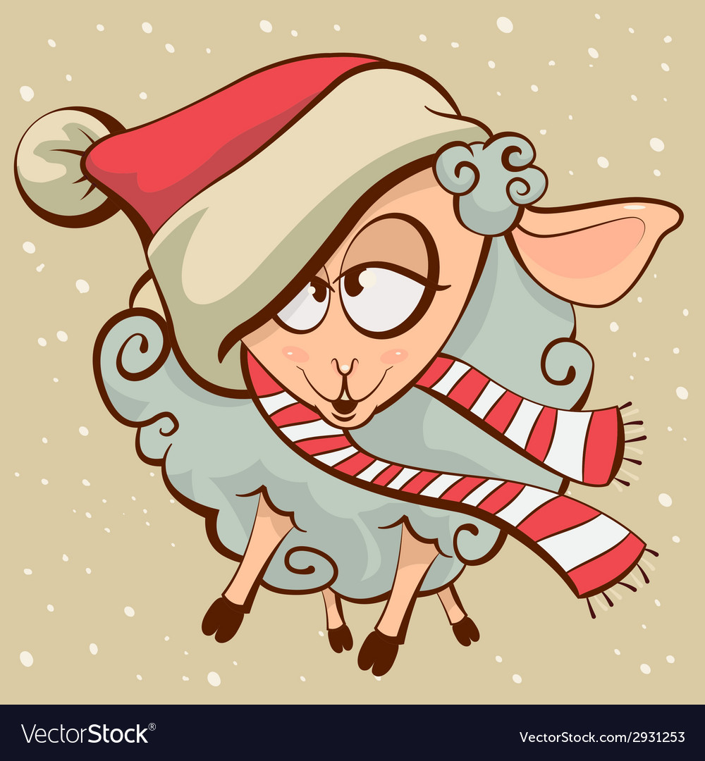 Drunk lamb symbol 2015 vector