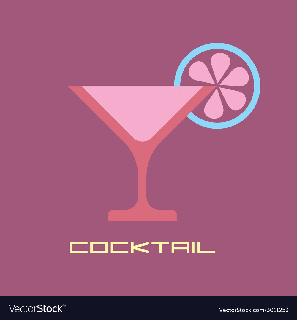 Martini icon vector