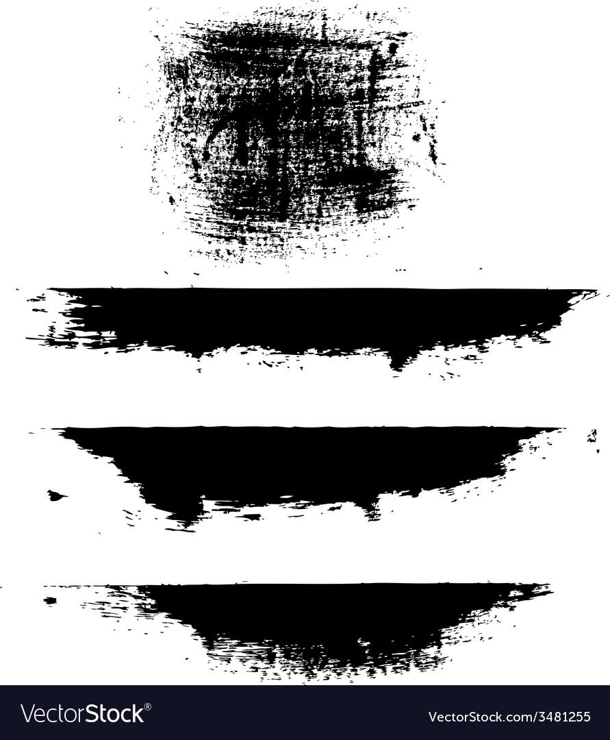 Black blobs vector
