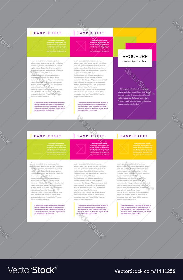 Brochure tri-fold layout design template vector
