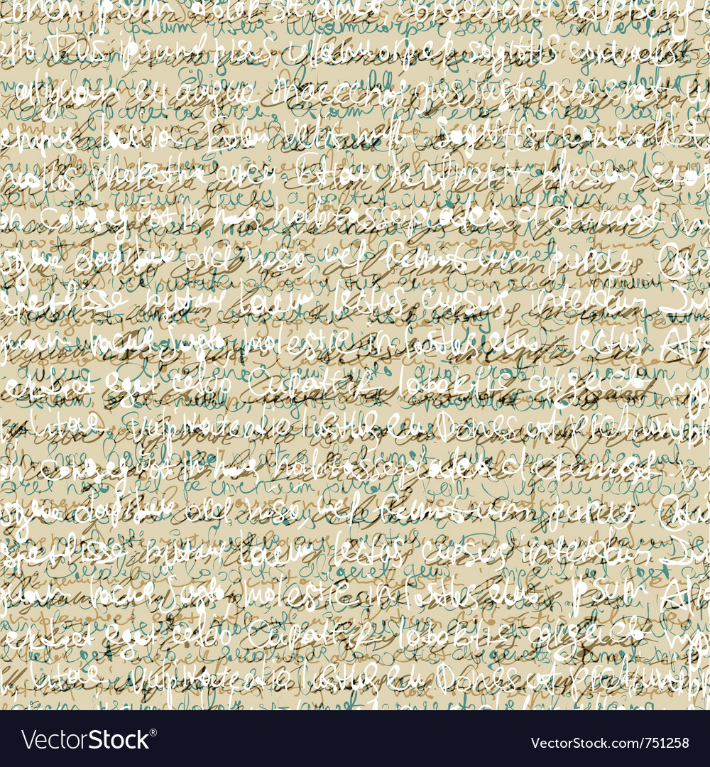 Handwriting letter pattern vector