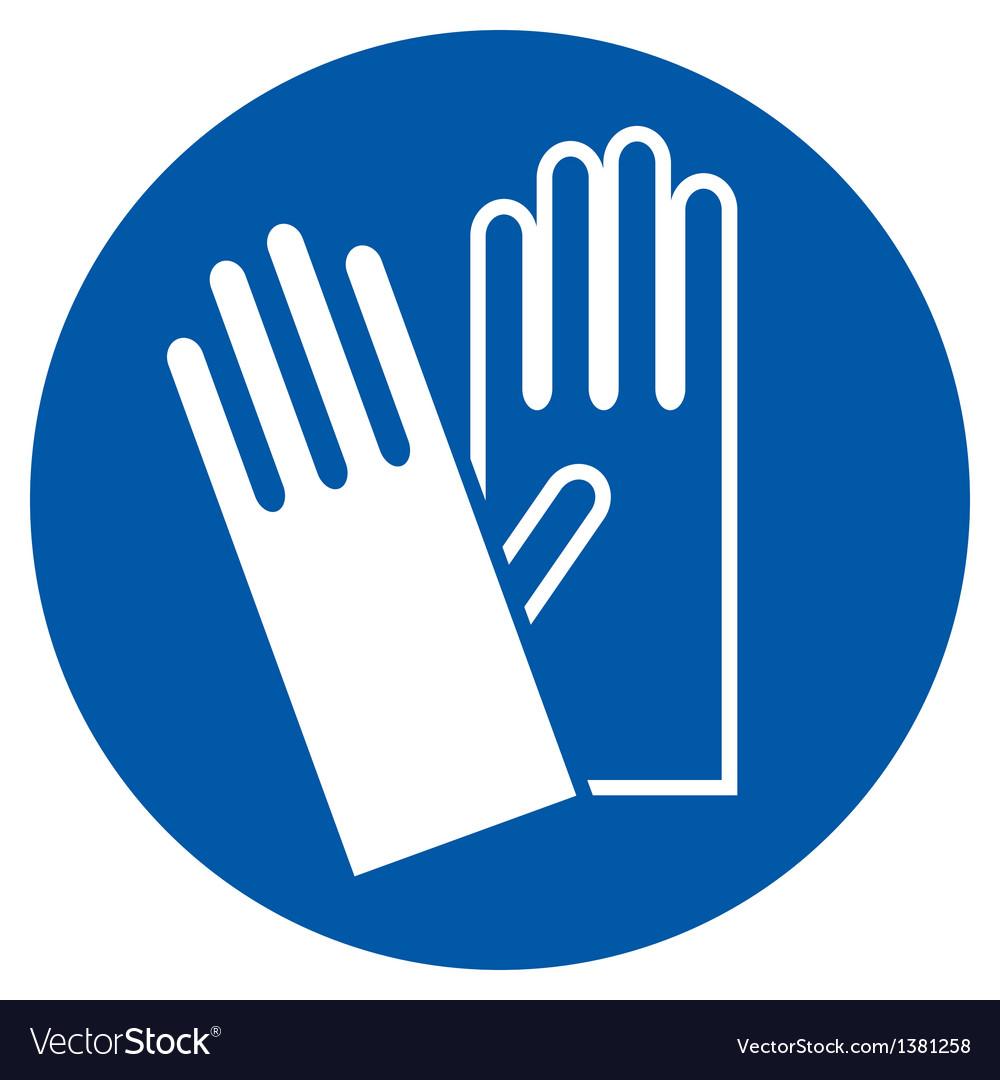 Wear gloves vector