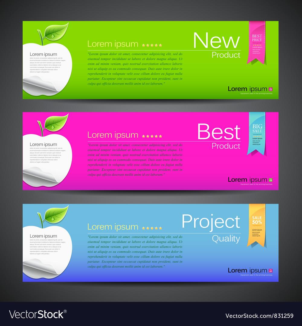 Banner design apple vector