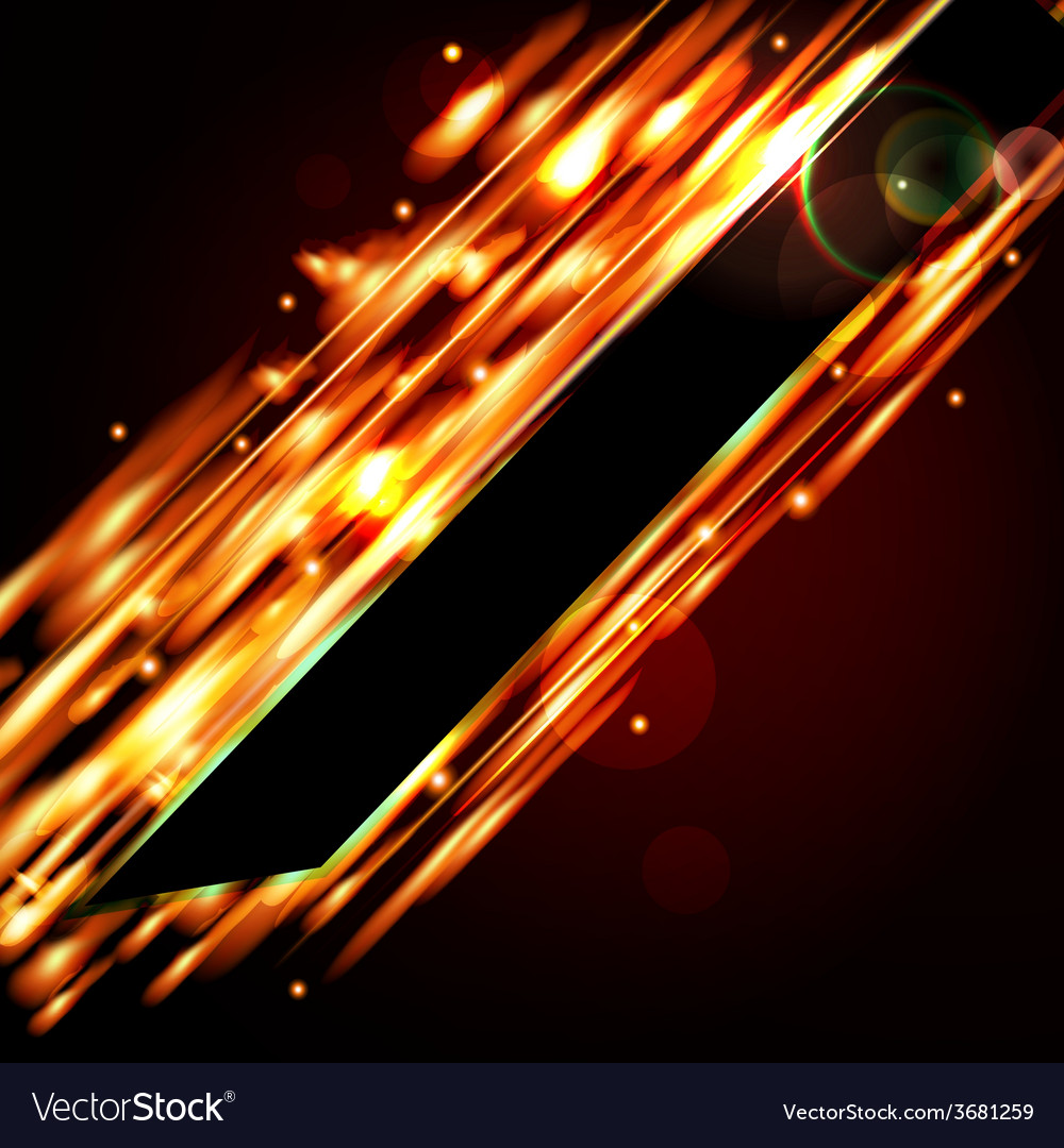 Fiery background with free space for your text vector
