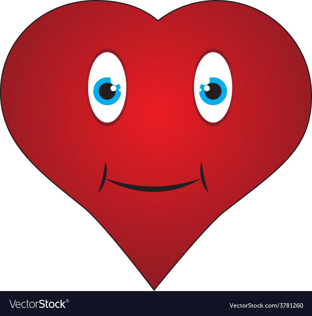 Smiley heart vector