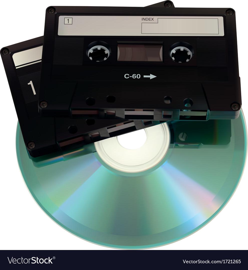 Audiocasettecd vector