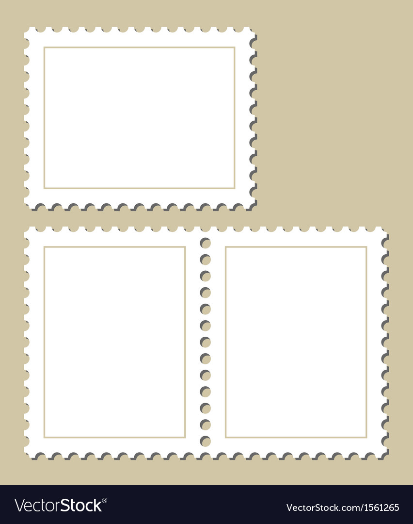 Blank postage stamps vector