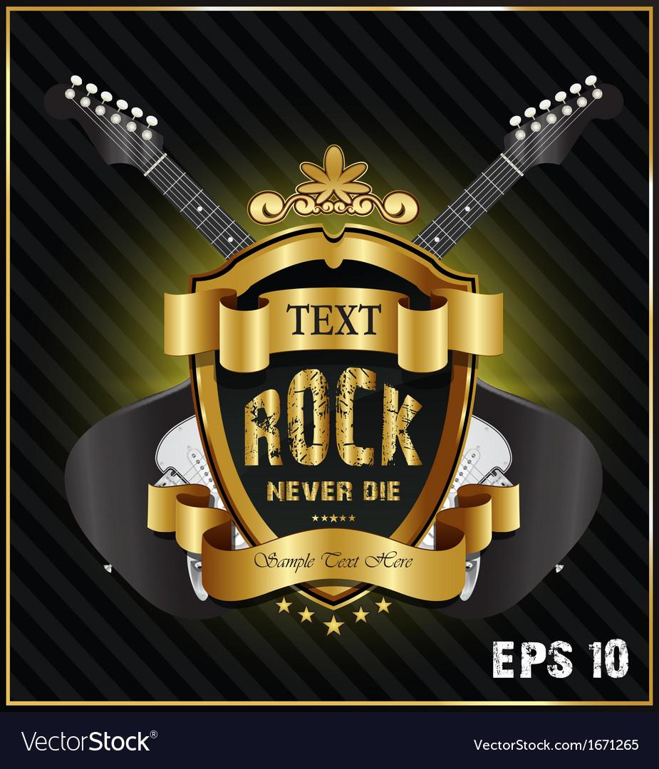 Rock never die vector
