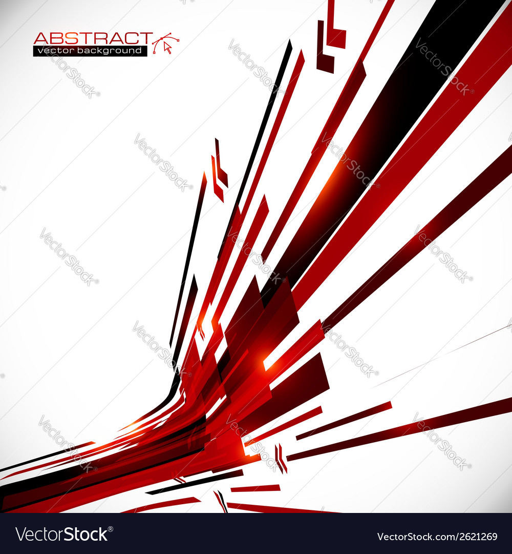 Abstract red and black shining lines background vector